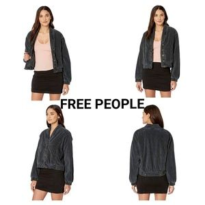 TAKE 50% OFF FREE PEOPLE BLACK MAIN SQUEEZE JACKET